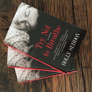 Three copies of Try Not to Breathe large print