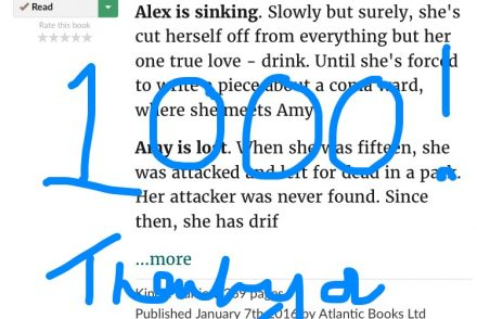 screenshot of Try Not to Breathe on Goodreads